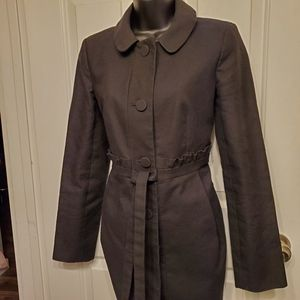 J Crew Ruffled Gamine Coat